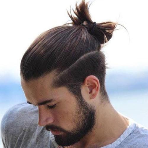 Top-Knot-Bun-For-Long-Hair